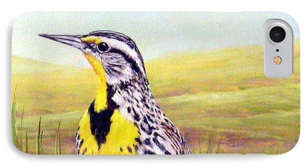 Western Meadowlark IPhone 7 Case by Tom Chapman