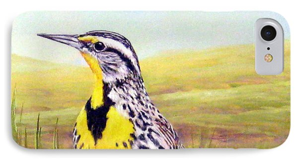 Western Meadowlark IPhone Case by Tom Chapman