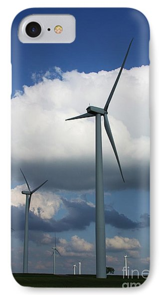 IPhone Case featuring the photograph Western Oklahoma Wind Farm by Jim McCain