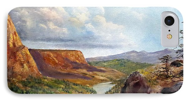 Western River Canyon IPhone Case by Lee Piper
