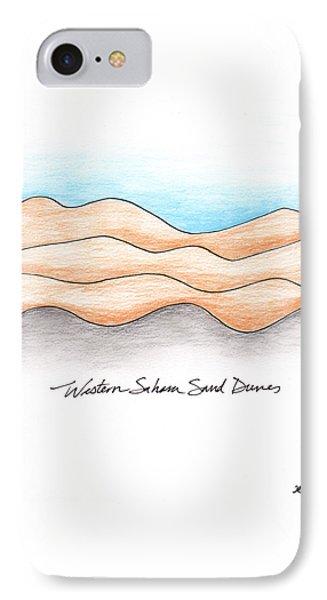 Western Sahara Sand Dunes 1 IPhone Case by Anna Elkins