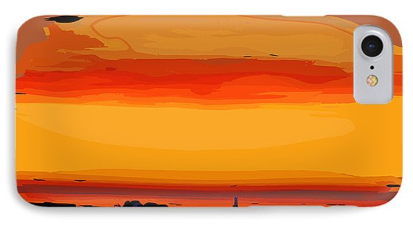 IPhone Case featuring the digital art Western Sky by Kirt Tisdale