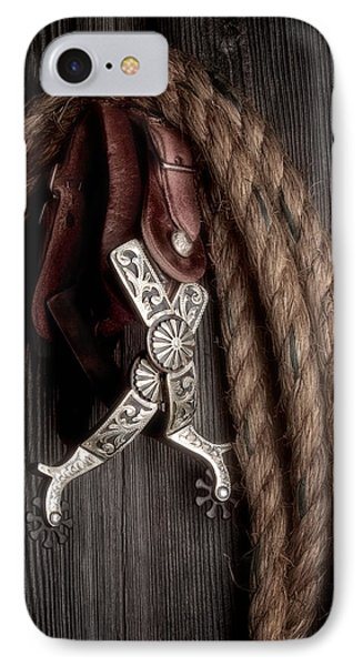 Western Spurs - Revisited IPhone Case by Tom Mc Nemar