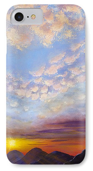 IPhone Case featuring the painting Western Sunset by Margaret Bobb