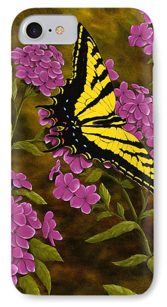 Western Tiger Swallowtail And Evening Phlox IPhone Case