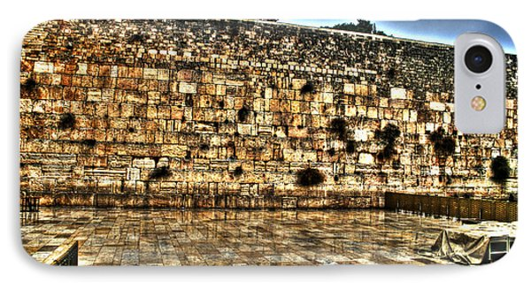 IPhone Case featuring the photograph Western Wall In Israel by Doc Braham