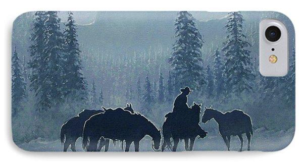 Western Winter Phone Case by Randy Follis