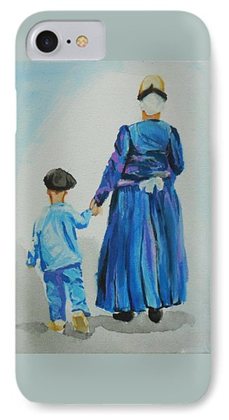 Westfriese Woman And Boy IPhone Case