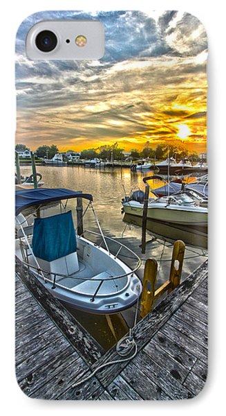 Westhampton Beach Marina Sunset IPhone Case