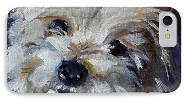 Westie Mix IPhone Case by Pattie Wall