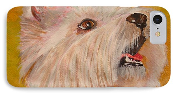 Westie Portrait IPhone Case by Tracey Harrington-Simpson