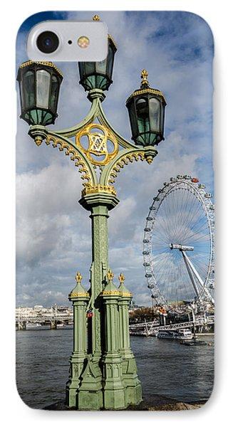 Westminster Bridge And The London Eye Phone Case by John Hastings