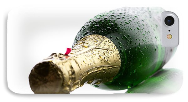 Wet Champagne Bottle IPhone Case by Johan Swanepoel