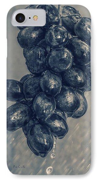 Wet Grapes Five Phone Case by Bob Orsillo