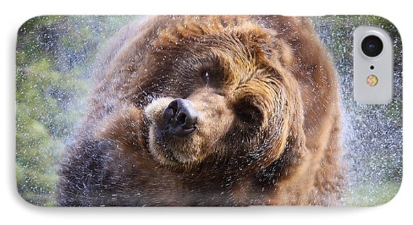 IPhone Case featuring the photograph Wet Griz by Steve McKinzie