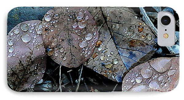 Wet Leaves Phone Case by Artist and Photographer Laura Wrede