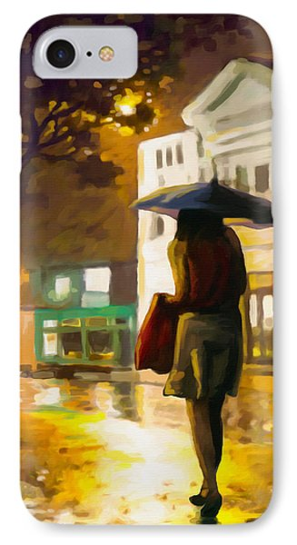 IPhone Case featuring the painting Wet Night by Anthony Mwangi