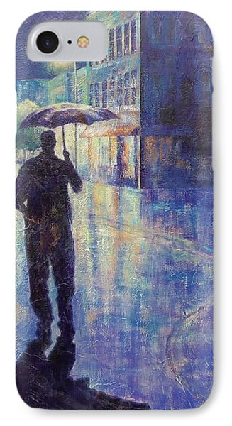 IPhone Case featuring the painting Wet Night by Susan DeLain