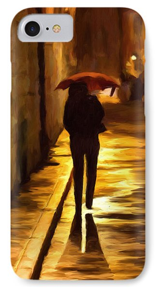 Wet Rainy Night IPhone Case by Michael Pickett