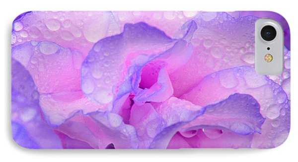 IPhone 7 Case featuring the photograph Wet Rose In Pink And Violet by Nareeta Martin