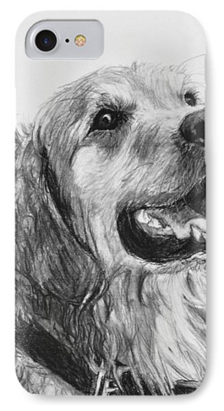 Wet Smiling Golden Retriever Shane IPhone Case