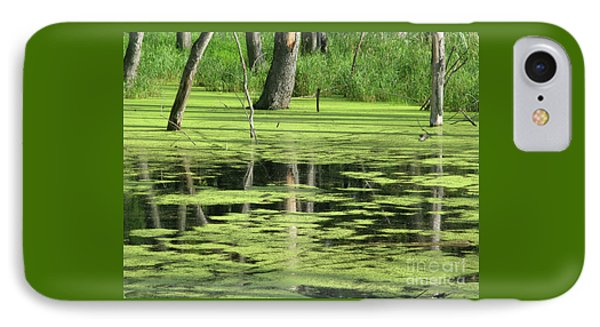 IPhone Case featuring the photograph Wetland Reflection by Ann Horn