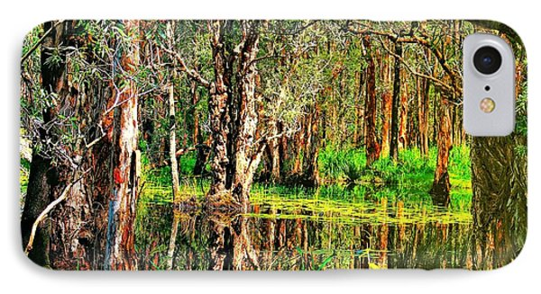 IPhone Case featuring the photograph Wetland Reflections by Wallaroo Images