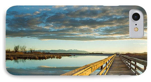 Wetland Wooden Path IPhone Case by Jeremy Farnsworth