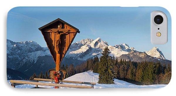 Wetterstein Mountain Range In Winter IPhone Case