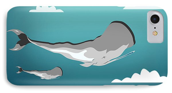 Whale 7 IPhone Case by Mark Ashkenazi