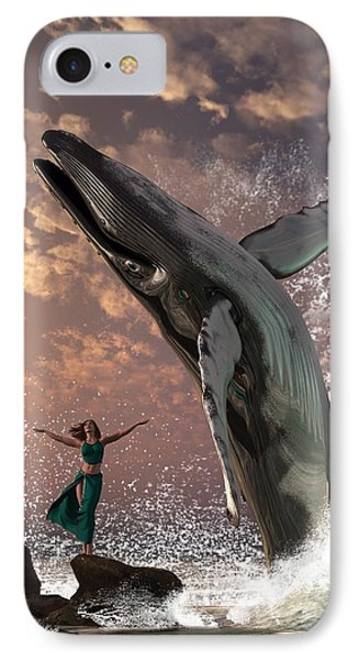 Whale Watcher IPhone Case by Daniel Eskridge