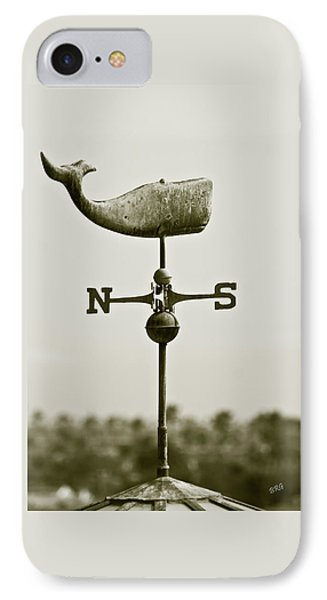 Whale Weathervane In Sepia Phone Case by Ben and Raisa Gertsberg