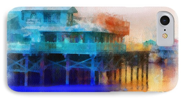 Wharf Color IPhone Case by Barbara R MacPhail