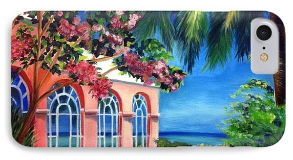 What A View - Barbados Royal Pavilion - Palm Restaurant IPhone Case by Shelia Kempf