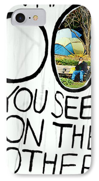 What Do You See On The Other Side IPhone Case