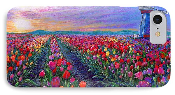 Tulip Fields, What Dreams May Come IPhone 7 Case by Jane Small