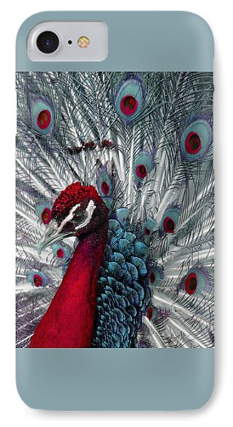 What If - A Fanciful Peacock IPhone Case by Ann Horn