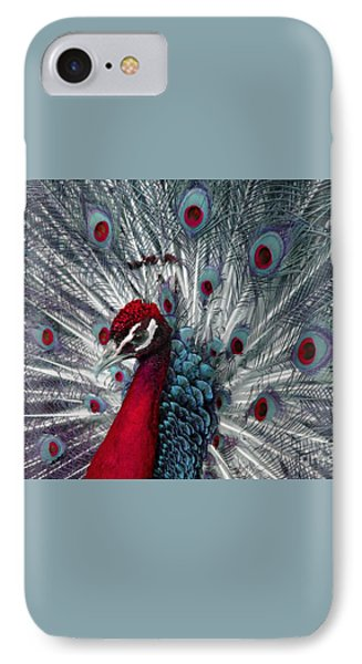 What If - A Fanciful Peacock Phone Case by Ann Horn