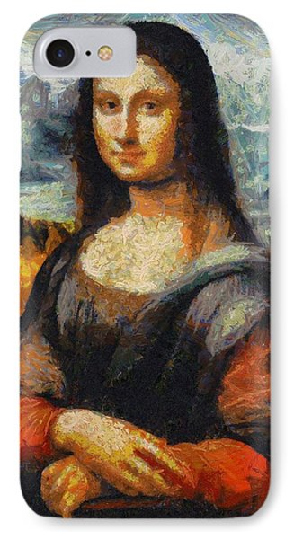 IPhone Case featuring the painting What If Vincent Van Gogh Had Painted Mona Lisa? by Kai Saarto