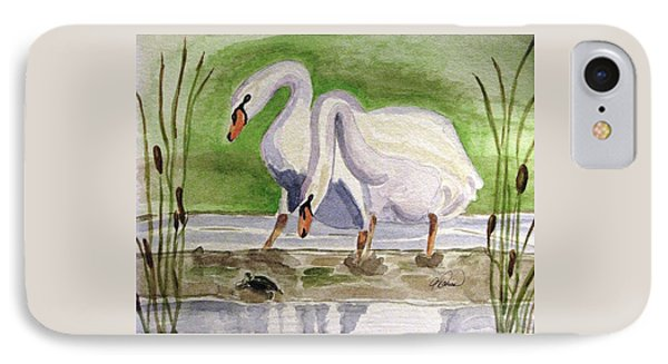 IPhone Case featuring the painting What Is It by Angela Davies