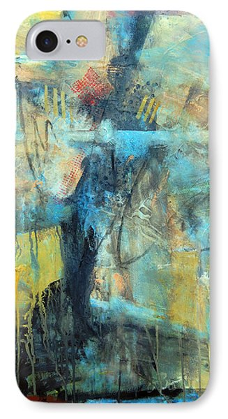 IPhone Case featuring the painting What Lies Beneath by Ron Stephens