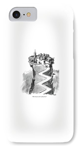 What This Place Needs Is A Film Festival IPhone Case by Mischa Richter