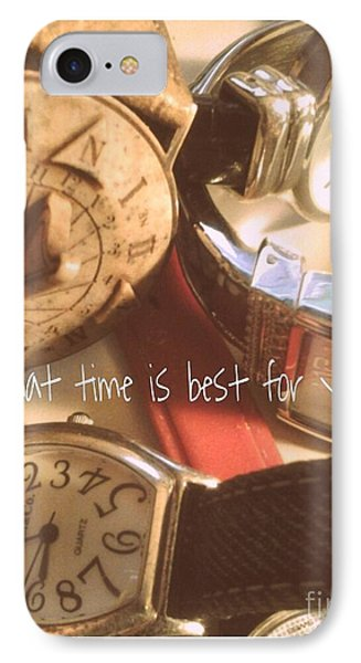 What Time Is Best IPhone Case by Susan Townsend