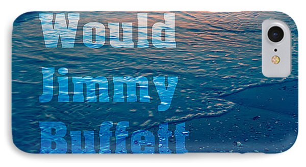 What Would Jimmy Buffet Do Square Phone Case by Edward Fielding