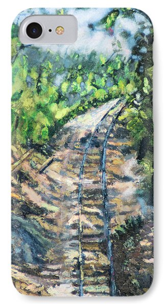 IPhone Case featuring the painting What's Around The Bend? by Michael Daniels