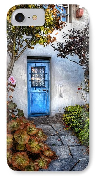 What's Behind The Blue Door   Basel IPhone Case by Carol Japp