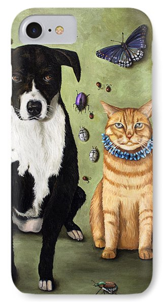 What's Bugging Luke And Molly Phone Case by Leah Saulnier The Painting Maniac