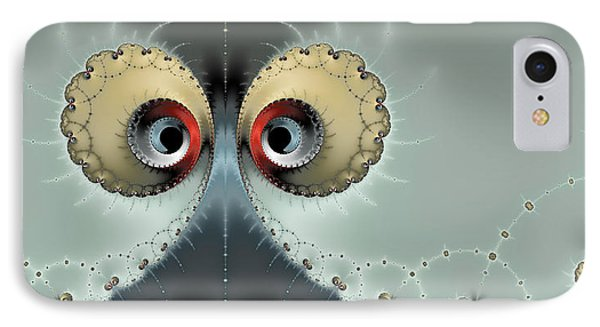 Whats Going On - Fractal Eyes Watching You IPhone Case by Matthias Hauser