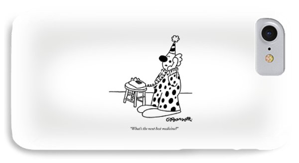 What's The Next Best Medicine? IPhone Case by Charles Barsotti
