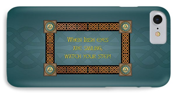 Whe Irish Eyes Are Smiling IPhone Case by Ireland Calling